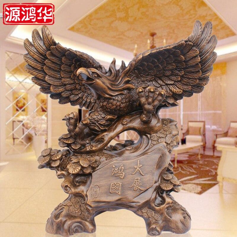Essayez aigle artisanat ornements résine artisanat ameublement salon décoration bureau maison décoration accessoires statue estatua