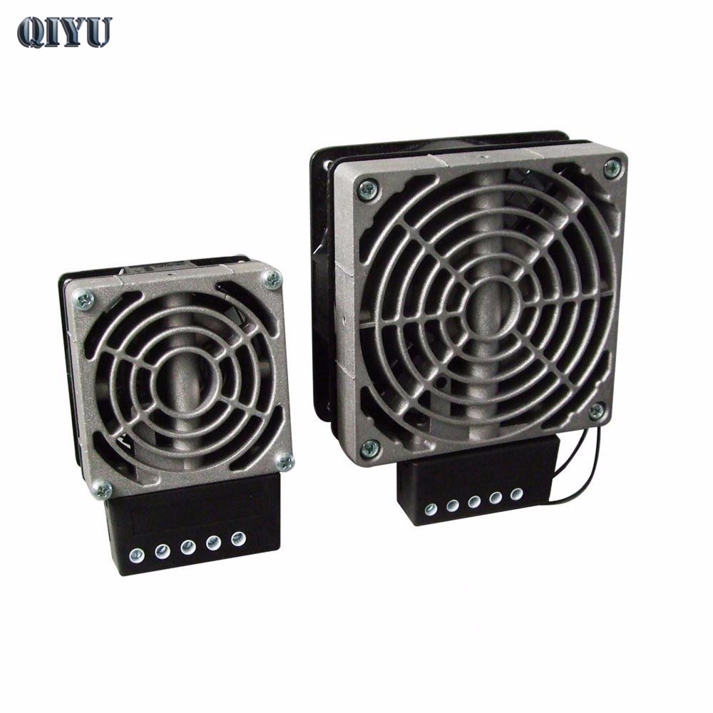 AC 230V HVL031 cabinet heater dehumidification decondensation with fan type distribution box constant temperature heating plate 200 300mm 220v 300w for computer aided equipment control box moisture and dehumidification aluminium plate silicone heater