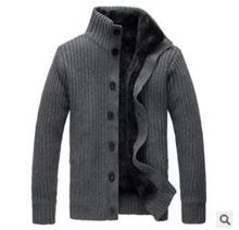 Autumn and winter sweater cashmere Mens thickened fashion cardigan jacket collar pull homme cardigan men sueter hombre pullover