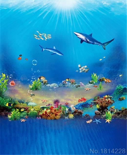 3x5FT Aquarium Sunshine Under Blue Sea Fish Shark Coral