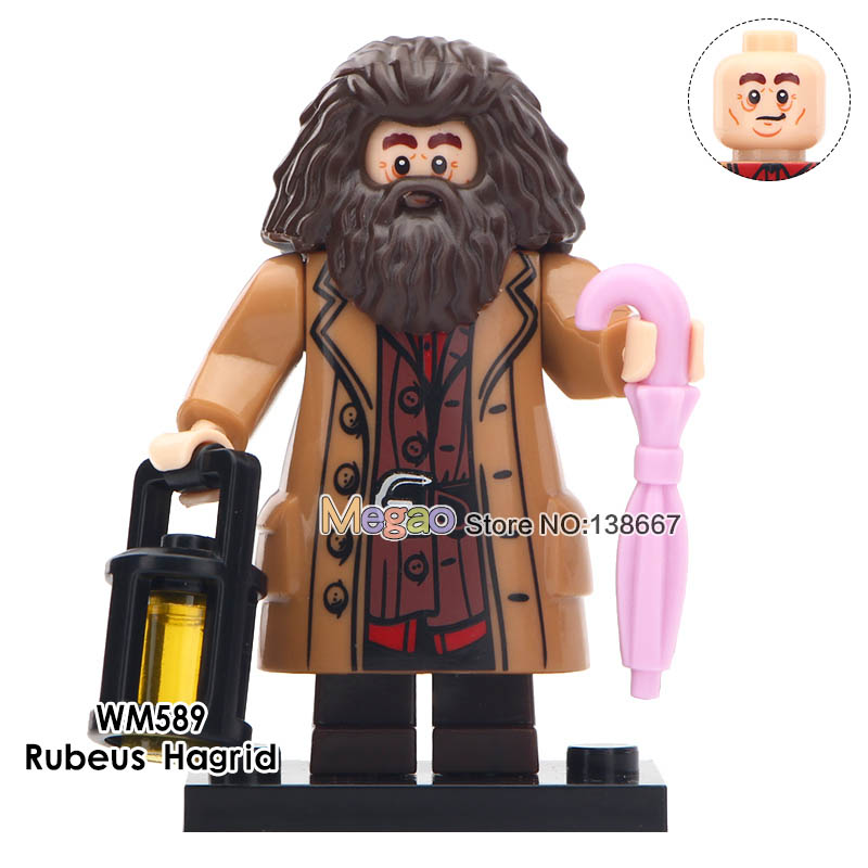 50pcs lot Movie Series Rubeus Hagrid Mixed Race Giant Finnigan Bole Oliver Wood Building Blocks Children