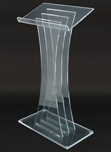 Modern Acrylic Podium Lectern Fully Assembled 0 5 Thick Panels 48 Tall LECTM