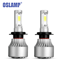 Oslamp Hi Lo Beam COB Chips 72W Pair 6500K H4 LED Car Headlight 2WD 4WD Automobile