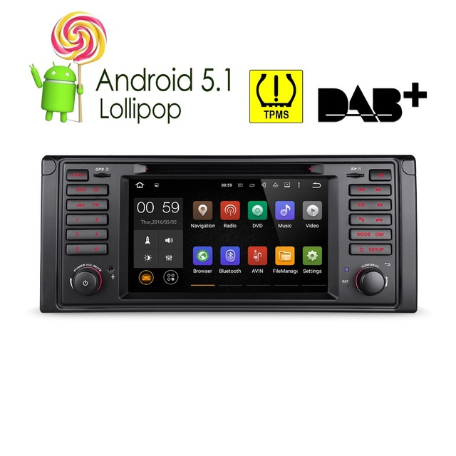 "Xtrons 7 ""Android 5.1 dvd-плеер автомобиля gps-навигация OBD2 для BMW E39 1995 1996 1997 1998 1999 2000 2001 2002 2003 M5 7 серии"