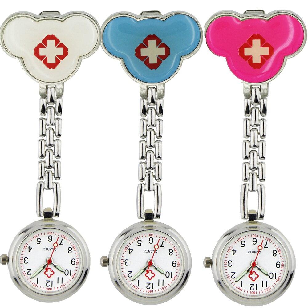 Pocket & Fob Watches Wei Peng Ladies Nurse Watch Clip-on Lapel Anime Cartoon Nurse Face Infection Control Watch Pocket Watch Reloj De Bolsillo