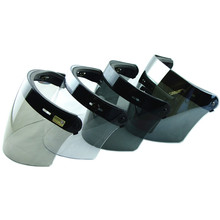Venta caliente 3-snap retro escudo casco lente capacete casco de la moto de la motocicleta open face casco visera del casco de vuelo de la vendimia