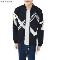 VERSMA 2017 Korean Style GD G Dragon Harajuku Men Jacket Coat Baseball Jacket American Sportswear