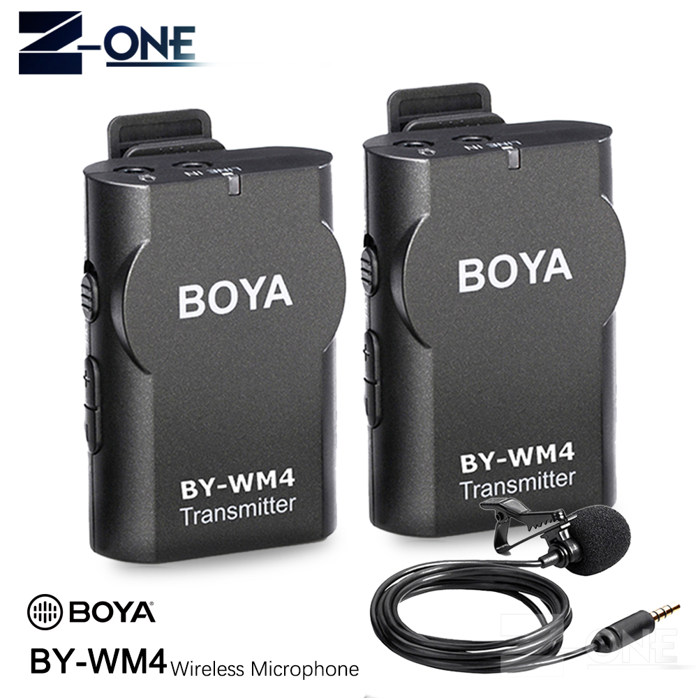 BOYA BY-WM4 Wireless Lavalier Microphone system for Canon Nikon Sony A7M3 A7R3 DSLR Camera Camcorder iphone 8 android smartphone boya by wm5 lavalier clip on mic audio studio recorder wireless microphone microfone for canon sony gopro dslr camera camcorder