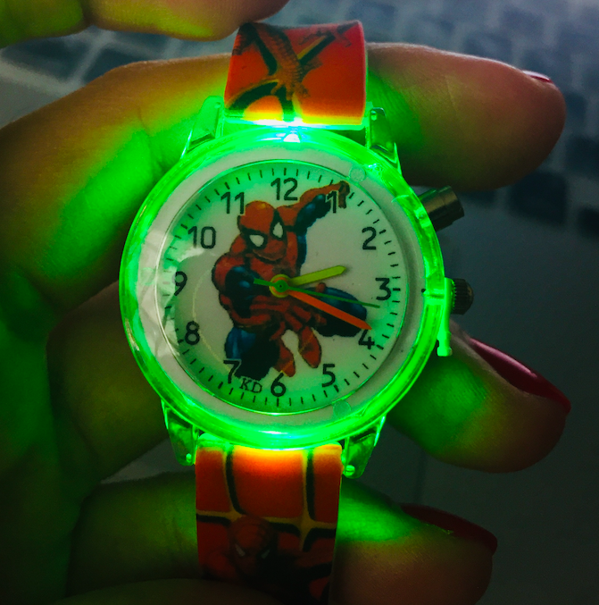Spiderman Children Watches For Kids Colorful Flash Light Electronic Boys Watch Birthday Party Gift Clock Wrist New Design