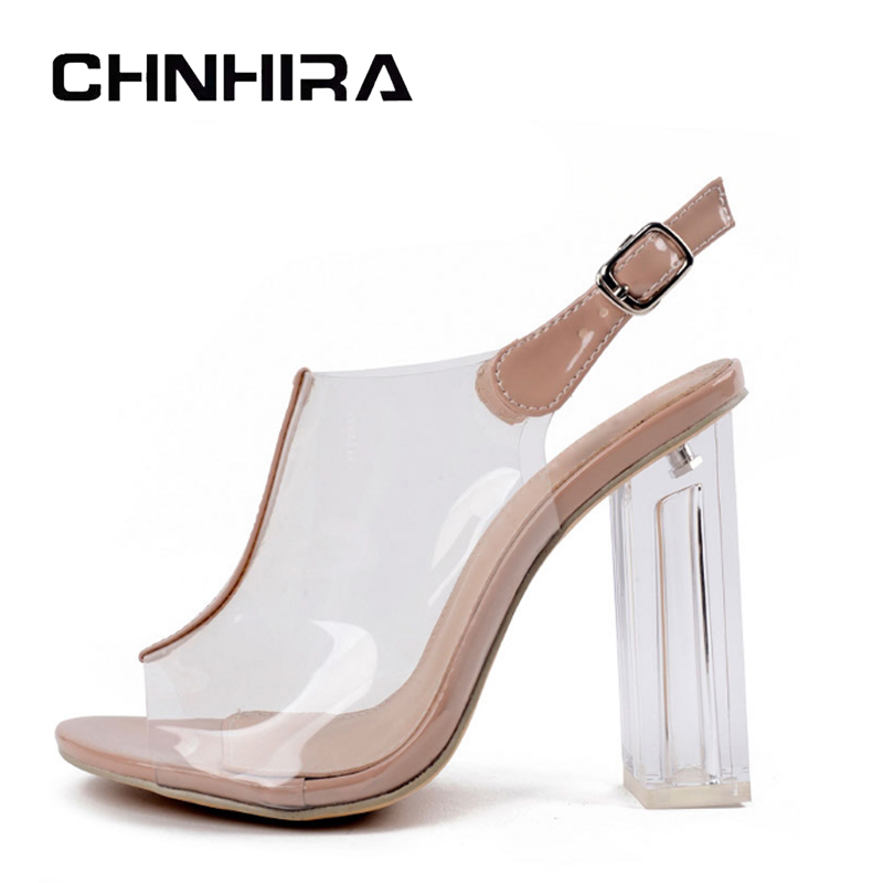 CHNHIRA 2017 Summer Gladiator Sandals Sexy High Heels Fashion Pumps Platform Transparent Shoes Woman Size 35-40 #CH416 hee grand gold silver high heels 2017 summer gladiator sandals sexy platform shoes woman casual shoes size 35 43 xwz4075
