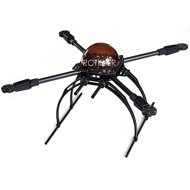 Rctimer X650 Quadcopter Frame Kit Foldable Carbon Fiber 4 Axis Multi Rotor MultiCopter Aircraft Landing Gear