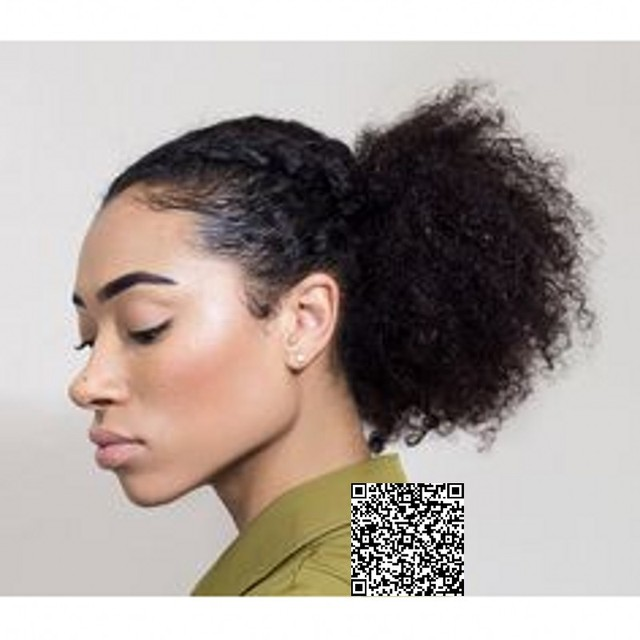 New Hairstyle Afro Puff Curly Ponytail Human Hair Clip In Puff Culry