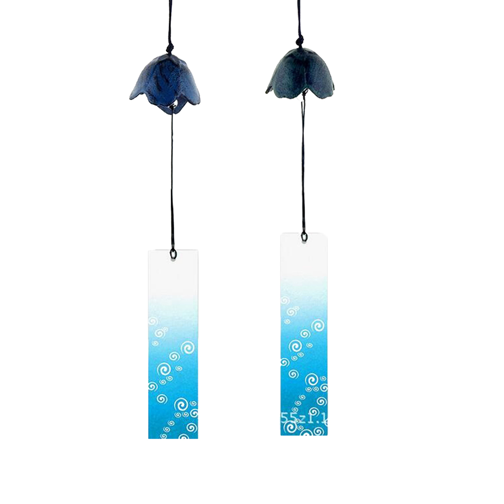 2 Pieces Japanese Furin Wind Chime Nambu Cast Iron Iwachu Bell Flower-shaped