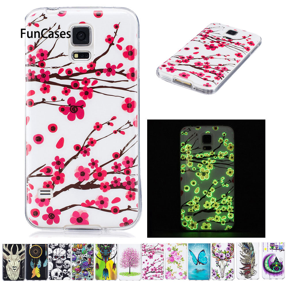 Luminous Case For Samsung Galaxy S5 S 5 neo SM-G900f SM-G900H SM-G900FD SM-G903f SM G900f G900H G900FD G903F TPU Soft phone case(China)