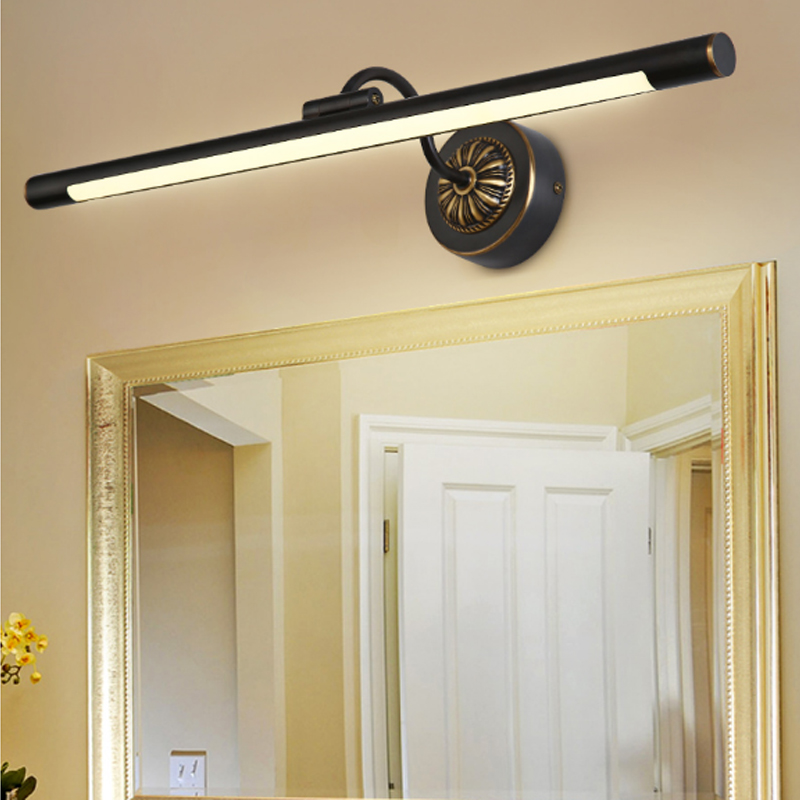 Dresser led mirror headlights bathroom Toilet mirror led wall lamp washroom cabinet lamp mirror wall sconce Restroom wall light цена