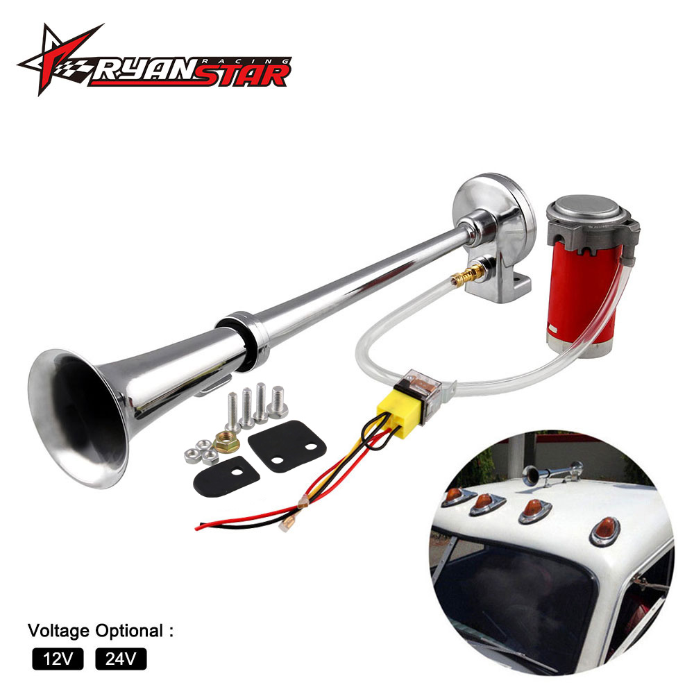 150DB Super Loud 12V/24V Single Trumpet Air Horn Compressor Car Lorry Boat Motorcycle AH015