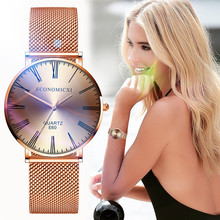 цена на Stainless Steel Mesh Japan Quartz Women Wrist Watches Rose Gold Ladies Luxury Watch New Fashion Clock Bracelet Reloj Relogio 233