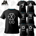 NEW k-pop EXO XOXO Album special T-shirt exo kris luhan se hun baekhyun  tao lay do chen kpop luminous shirt