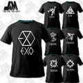 NUEVA k-pop EXO XOXO Álbum especial Camiseta sí hun baekhyun exo kris luhan tao yacía hacer kpop chen camiseta luminosa