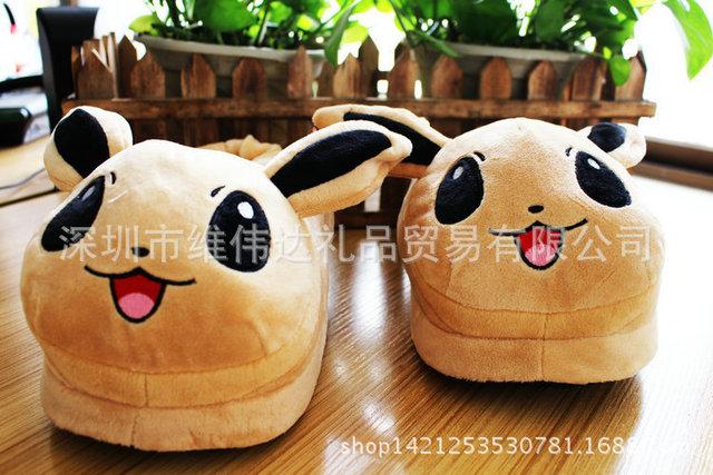 Hombres Mujeres Invierno Cálido Pokemon ir Zapatillas/Adultos Pikachu Kawaii 3D Casa de Peluche de Felpa Zapatillas de Casa Zapatos de La Historieta de la Manera zapatos