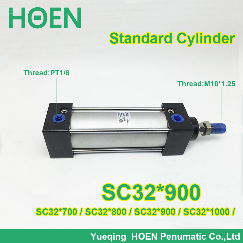 High Quality SC32*900 SC series 32 mm bore standard double action single rod air cylinder SC32*1000 glaser d36440 00 glaser