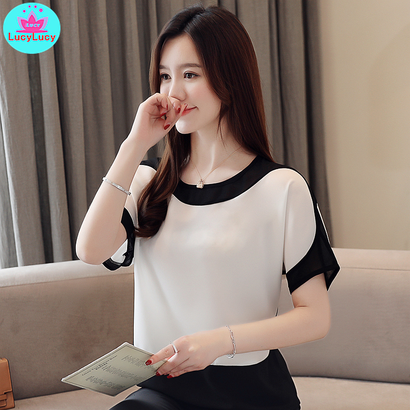 Make the chiffon unlined upper garment of a fairy female summer new western style bat show thin base coat loose with short sleev