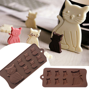 New Cat Kitten 7 Cavity Silicone Mold for Fondant, Gum Paste, Chocolate, Crafts MF100(China)