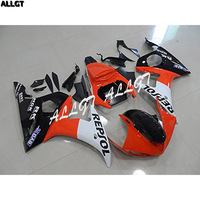 Orange Black ABS Plastic Fairing Kits For Yamaha YZF 600 R6 2003 2004 YZF 600 R6 03 04