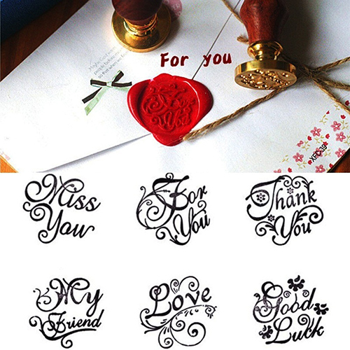 Vintage Romantic Love Thank You Miss Good Luck Letters DIY Wax Seal Stamp