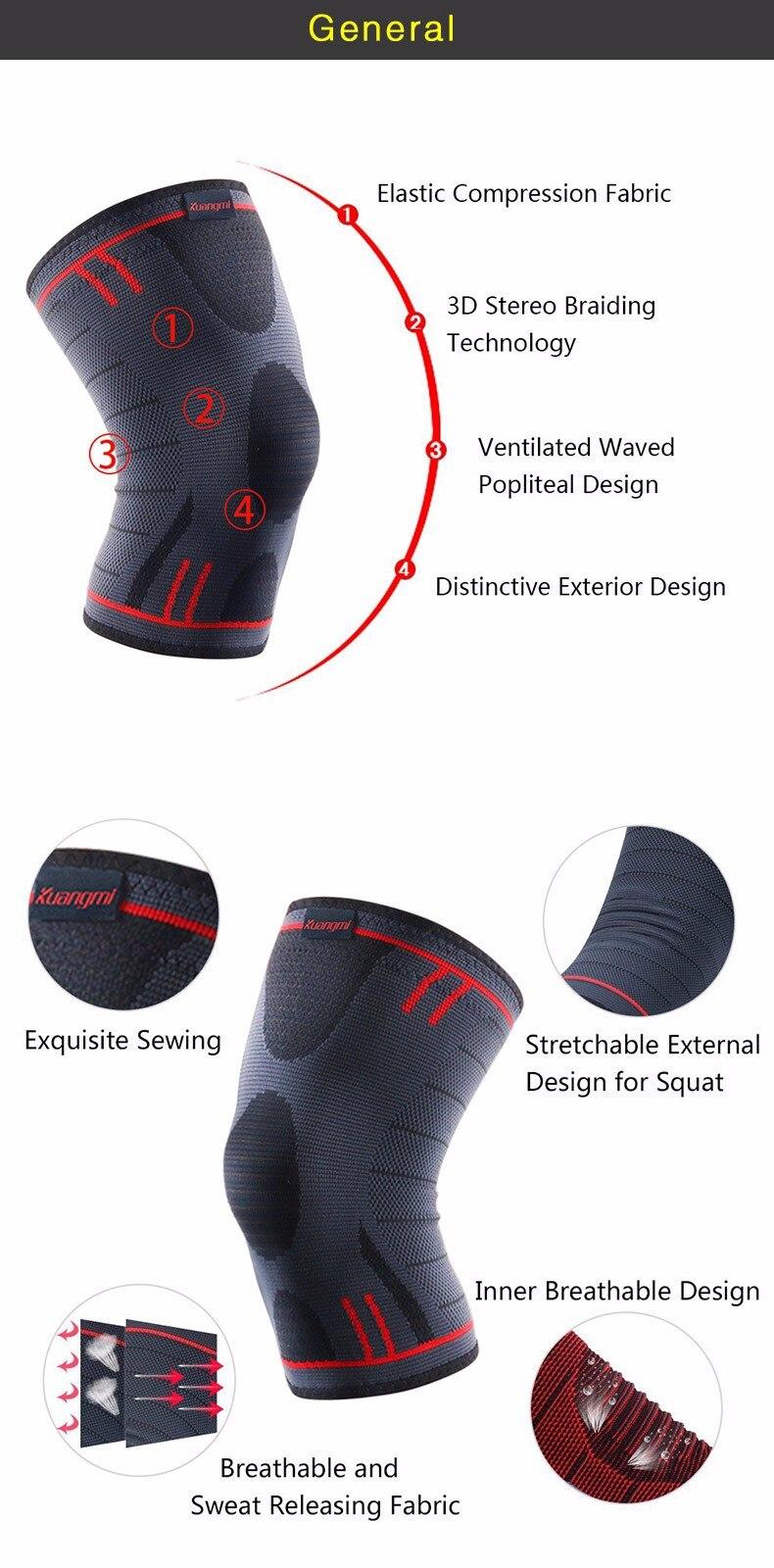 HTB1J4csOpXXXXXTXFXXq6xXFXXXD - Kuangmi 1 PC Compression Knee Sleeve Basketball Knee Pads Knee Support