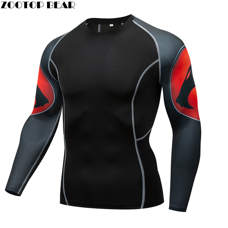 Cheetah MMA Compression Tee Rashguard Men T shirts  quick dry Breathable Male Elastic Tight Weight Lifting Crossfit Top  Fitness