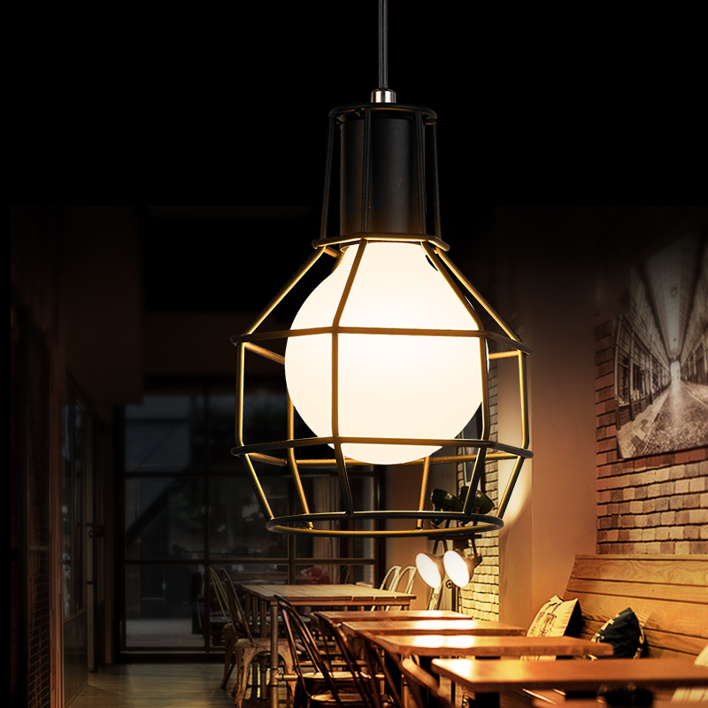 Modern individuality design chandelier Northern Europe minimalist romantic  circular iron light fixtures for bar checkstand modern fashion simple circular wooden handle aluminum lid chandelier made of iron painting diameter 50cm ac110 240v