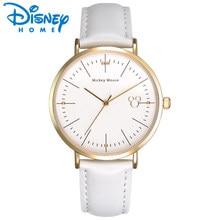 8c01730d10a Disney Relógio de Senhoras 2018 Top de Luxo Da Marca Mulheres Relógios  Couro Moda Quartz Relógio De Pulso Hour Mulheres reloj mo.