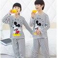 Горячая Микки Одежда Устанавливает Мальчиков Пижамы Милые Девушки Пижамы детской Одежды для Мальчиков Досуг Одежда для Девочек Домашней Одежды