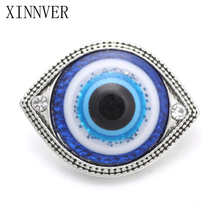 10pcs/lot 18mm Crystal Eye Snaps Jewelry Mixed Snap Buttons For Xinnver Snap DIY Jewelry ZA642
