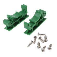 цена на PCB DIN Rail Mounting Adapter Circuit Board Mounting Bracket Holder Carrier Clip Tie Mounts