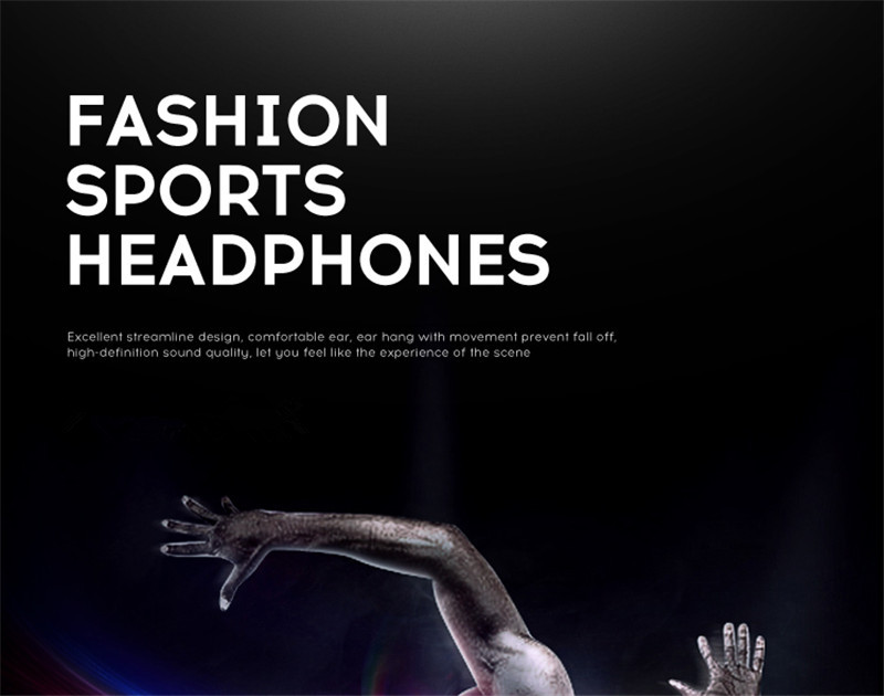 New HongBiao SM D5 Brand Sport Headphone 3.5mm In-Ear HiFi Earphones With Microphone Intelligent Wire Control Stereo Earphone