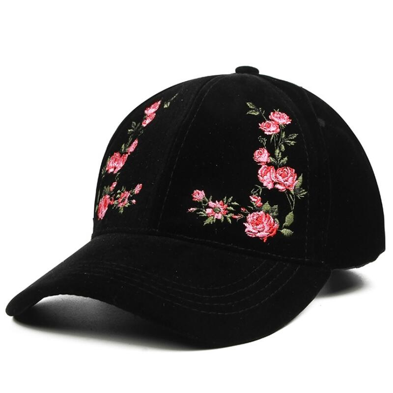 Women's Cap Red Rose Flower Summer Snapback Dad Hat For Men Women Unisex Chinese Style Baseball Cap Female Sun Club Party cntang brand summer lace hat cotton baseball cap for women breathable mesh girls snapback hip hop fashion female caps adjustable