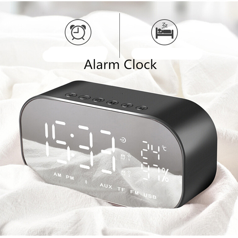 AKASO S02 Portable enceinte Bluetooth Speaker Receiver Super Bass Wireless Speakers for Phone Computer Support TF FM Alarm Clock