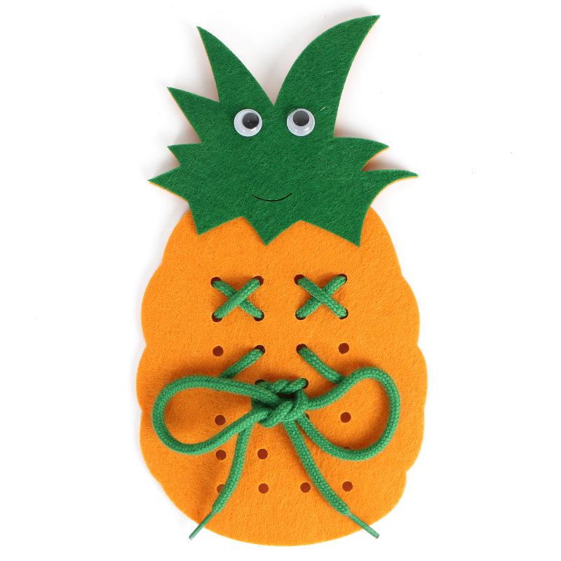 Cheap Price Rope Pineapple Children Handmade Learn To Tie Shoes Educational Toys Kids DIY Felt Fabric Craft