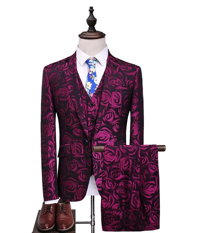 2019 Spring Custom Slim Fit Peak Lapel Best Man Bridegroom Suit Blue Groomsman Men's Wedding Prom Suits Men Suit Slim Fit