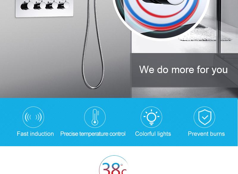 hm LED Ceiling Shower Set 20 Inch constant temperature Change Mist Rain Bathroom Shower Head Multiple Functions Shower Diverter (2)