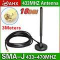 433 м 433 мГц большой присоски антенна с высоким коэффициентом усиления антенны 16DB всенаправленная антенна SMA глава более надежной медной катанки
