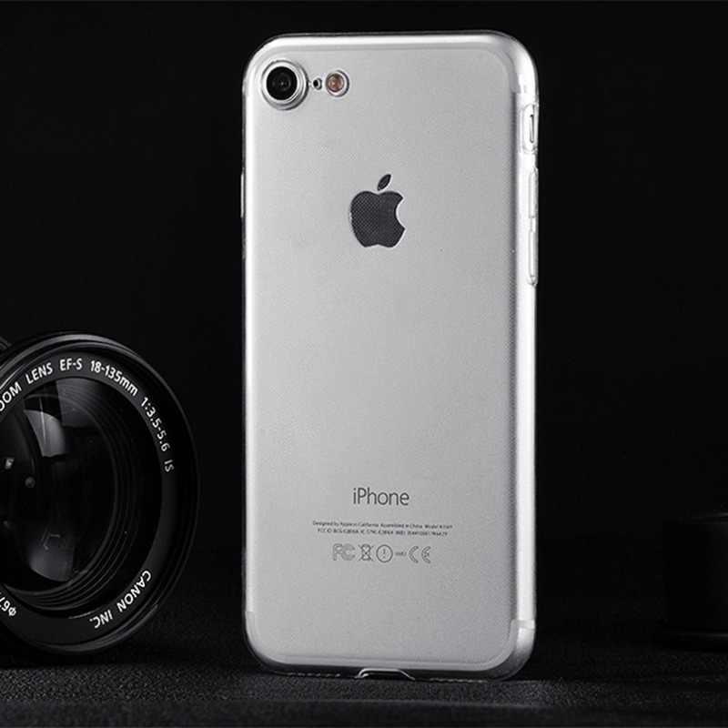 ล้างซิลิคอนอัลตร้าซอฟท์บางกรณีTPUสำหรับ7 7พลัส8 8บวกXกรณีโทรศัพท์ใสสำหรับiPhone 5 5วินาทีSE 6 6วินาที6บวก6 sp lus