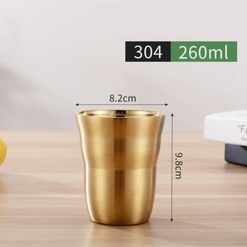 Offre sp ciale Double paroi en acier inoxydable tasses et tasses 175 260 300 480 ml
