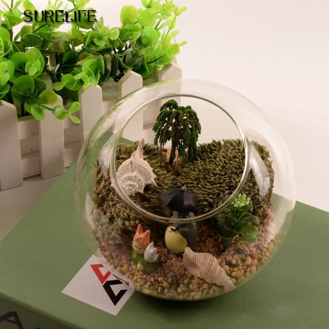 Transparent Glass Vase Hydroponic Flower Vase Hanging Round Glass