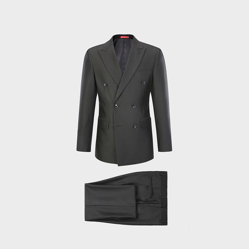 Brand Standard-cut Suit, Men's Two-piece Suit, Spring And Autumn Jacket, Trousers, Job Interview Dress, Middle-aged And Young P
