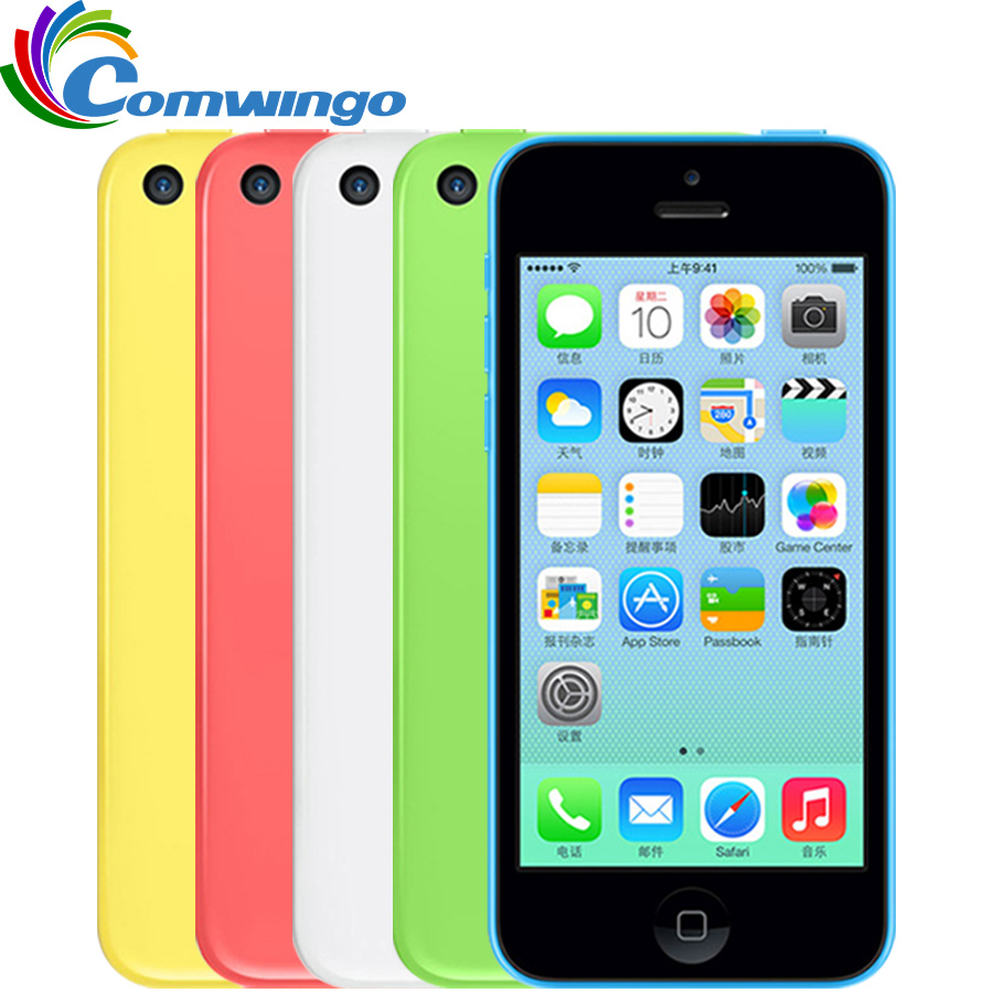 Déverrouillé Apple iphone 5C RAM 1g ROM 8g 16 & 32 iOS iphone 5c Dual Core Écran Tactile WIFI GPS GSM HSDPA 8 5.0mpix Caméra 4.0 iphone 5c