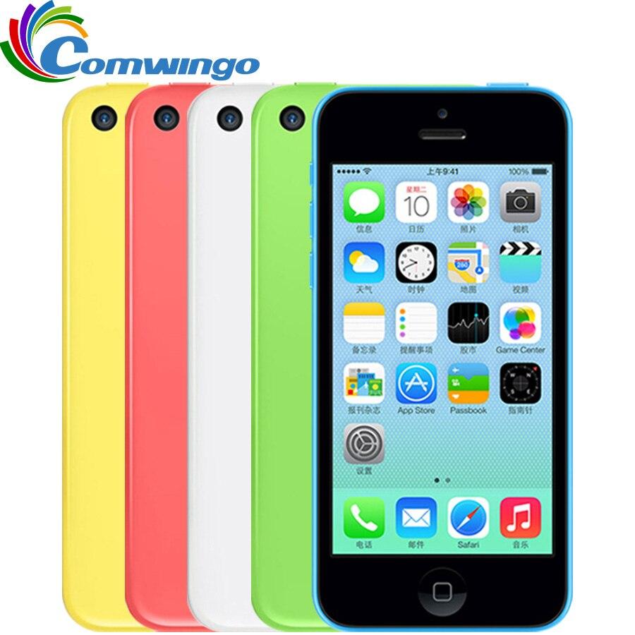 Sbloccato Apple iphone 5C RAM 1G ROM 8G 16 & 32 iOS iPhone 5c Dual Core TouchScreen WIFI GPS GSM HSDPA 8 MPix Macchina Fotografica 4.0