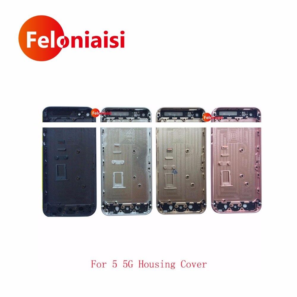 Para el IPhone 5 vivienda 5g 5S cuerpo SE vivienda cubierta de la batería cubierta trasera del marco del chasis cubierta IMEI
